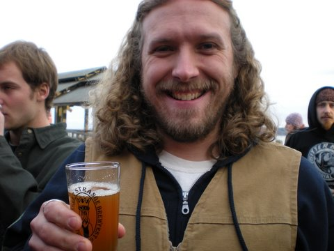 Boundary Bay Brewer, Anthony Stone, happy to be alive in Port Townsend.