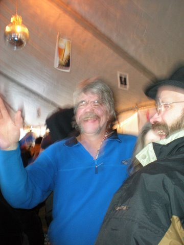 Skip, the brewer at Waterstreet, blurs out, as does my camera. This madness was all his idea.