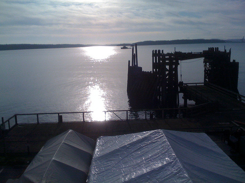 A cold, clear day in Port Townsend