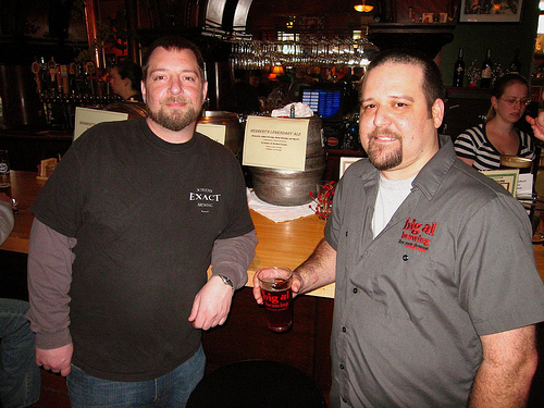 Marcus from Schooner Exact Brewing and Al from Big Al Brewing - a couple of the brewers involved.