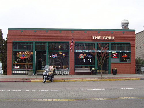 The Spar as she sits today. Built in 1916 on the site of the Old Tacoma Saloon.